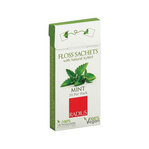 Radius Floss Sachets with Natural Xylitol - Mint - Case of 20