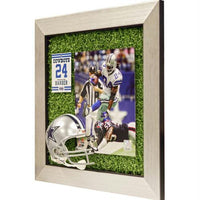 Marion Barber Dallas Cowboys Mini Helmet Framed Game Used Turf Matte 14x14 Photo Collage