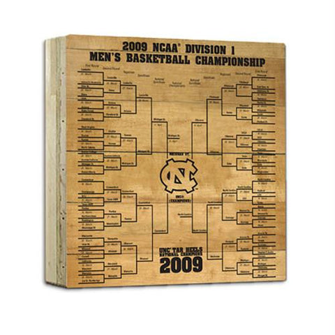 UNC Basketball Engraved 12x12 Bracket