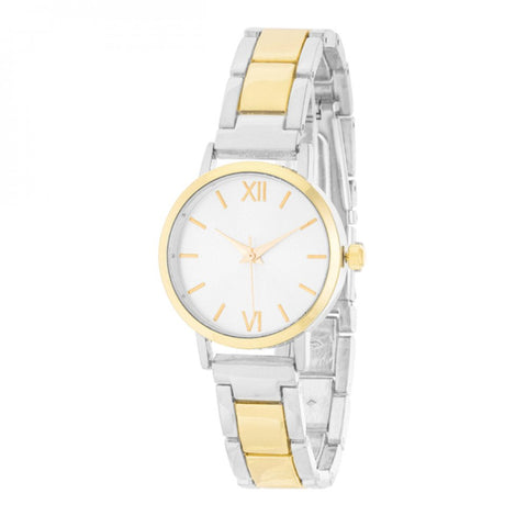 Kristiana Two-tone Ladylike Metal Watch