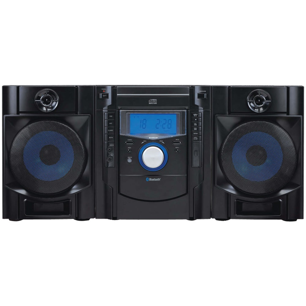Sylvania Bluetooth Cd Radio Micro System With Blue Led Display