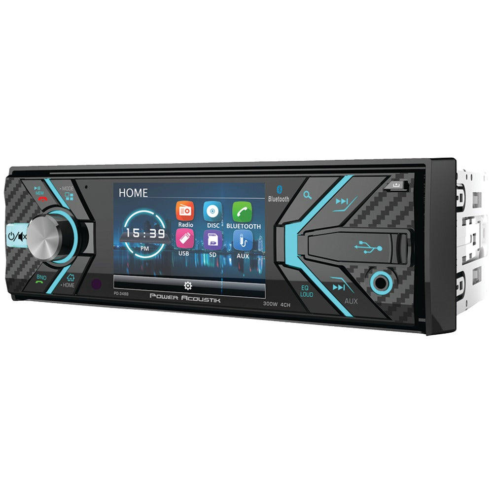 "Power Acoustik 3.4"" Incite Single-din In-dash Detachable Lcd Touchscreen Dvd Receiver With Bluetooth"