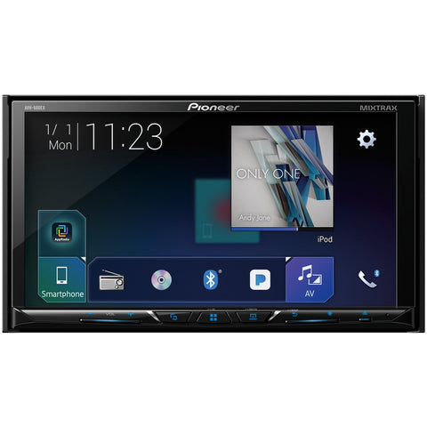 "Pioneer 7"" Double-din In-dash Dvd Receiver With Bluetooth & Siriusxm Ready"