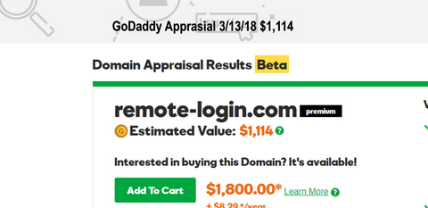 Remote-Login.com  Appraised for 1,100  Make An Offer