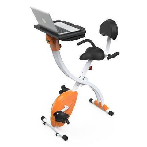 Home/Office Exercise Bike - Upright Bicycle Pedaling Fitness Machine with Laptop Tray