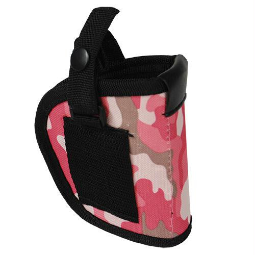 Mace Pepper Gun Holster, Soft Nylon Pink Camo.