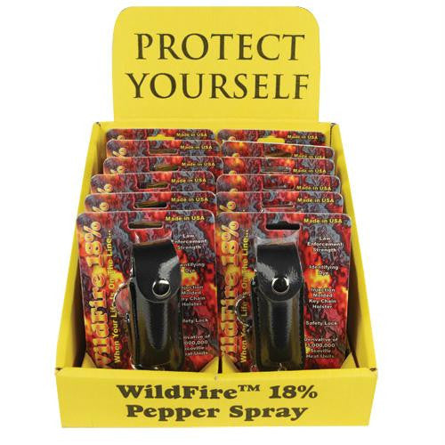 Wildfire Display 12 1-2oz Leatherette Black