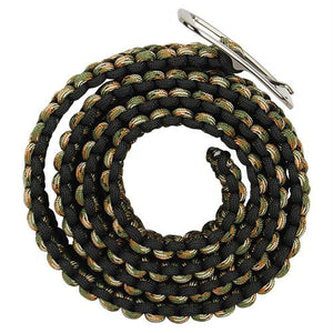 Paracord Camo Belt with metal buckle. The Paracord belt has 93.5 feet of 550 paracord. It can be used as an everyday belt but has other