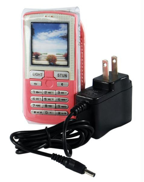 Pink Rechargeable Pretender Cell Phone Stun Gun 4.5 Million Volt