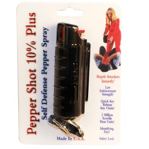 Pepper Shot 1-2 oz w-Black Injection Molded Holster & Quick Key Release Key Chain