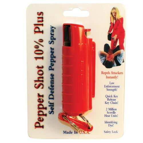 Pepper Shot 1-2 oz w-Red Injection Molded Holster & Quick Key Release Key Chain