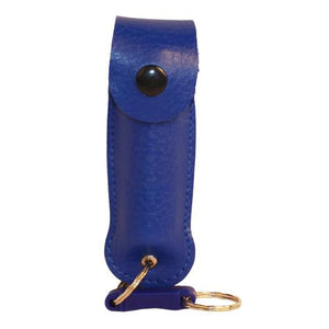 Wildfire 1-2 oz leatherette holster and Quick Release Key Chain blue