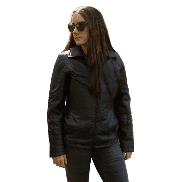 NIJ IIIA Bulletproof Women's Fitted Leather Jacket