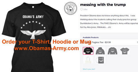 Obama's Army T-Shirt, Hoodie and Mug