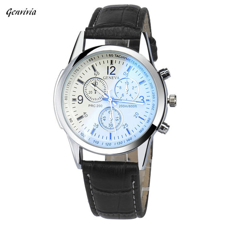 Smilelee Luxury Fashion Brand  Mens Quartz Watch Business Faux Leather Analog Watch Waterproof  Watches reloj hombre
