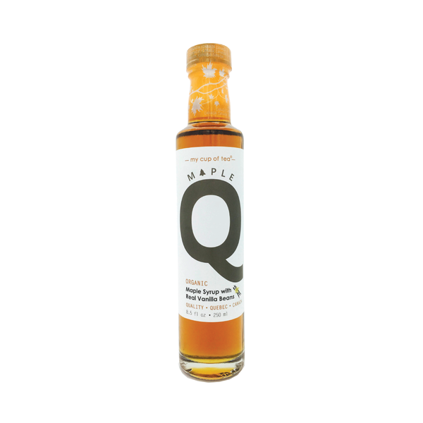 Maple Q 有機雲呢拿楓糖漿 Organic Maple Syrup with whole vanilla bean 250ml - mcot