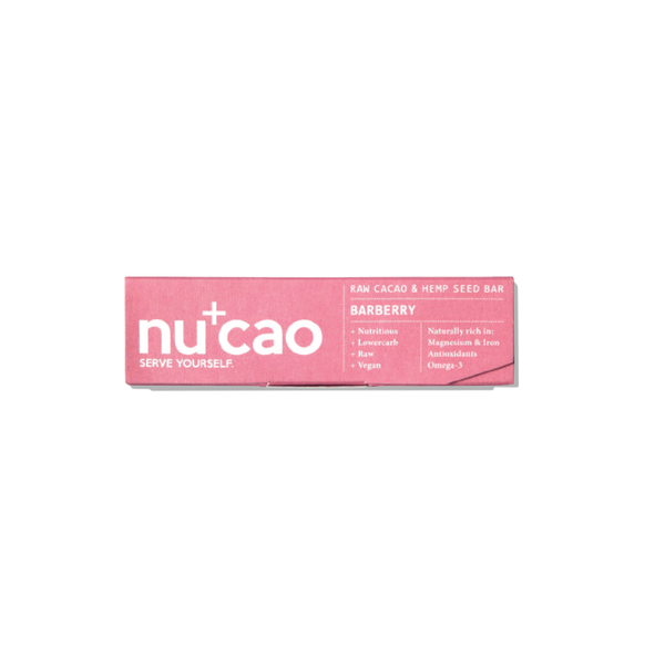 NUCAO - Organic Barberry raw chocolate bar 40g - mcot
