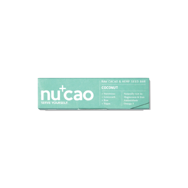 NUCAO - Organic Coconut Raw Chocolate Bar 40g - mcot