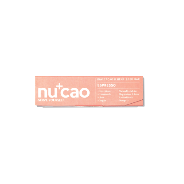 NUCAO - Organic Espresso Raw Chocolate Bar 40g - mcot
