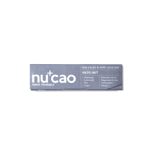 NUCAO - Organic Nazelnut Raw Chocolate Bar 40g - mcot