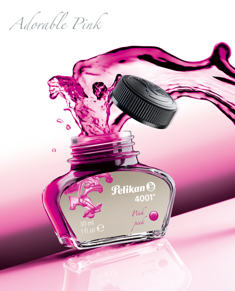 THINK PINK! NEW INK BOTTLE 4001 30ML IN PINK