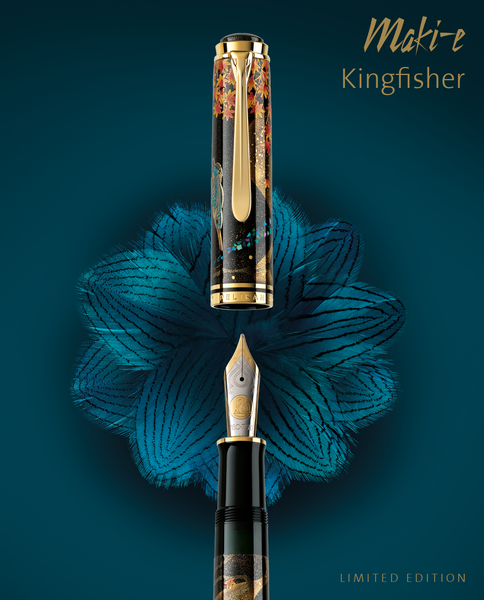 LIMITED EDITION MAKI-E KINGFISHER FOUNTAIN PEN