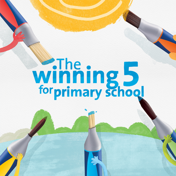 GRIFFIX® BRUSHES - THE WINNING 5 FOR PRIMARY SCHOOL