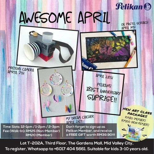 AWESOME APRIL ART CLASSES