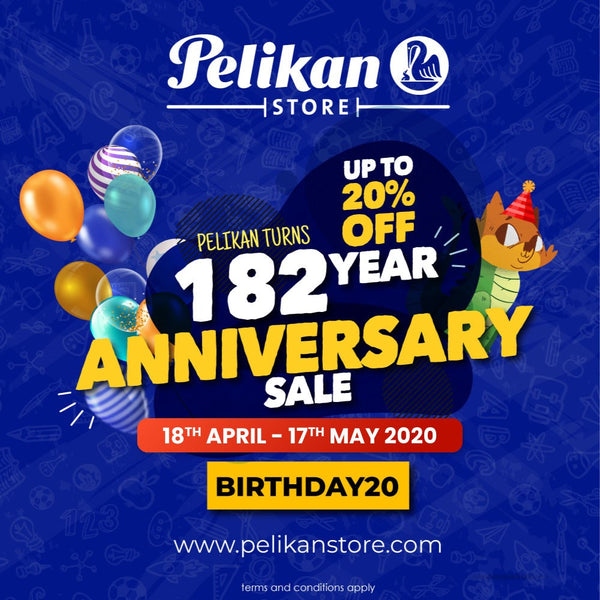 PELIKAN TURNS 182ND YEARS OLD ANNIVERSARY SALE!