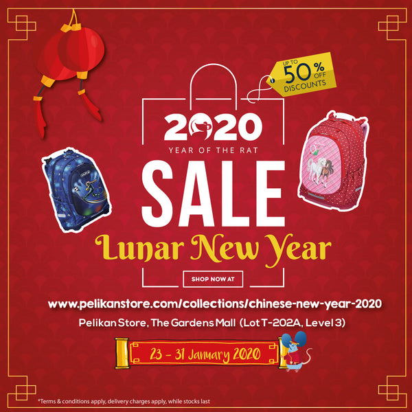 CHINESE NEW YEAR 2020 PROMOTION ON SCHOOLBAGS & ACCESSORIES