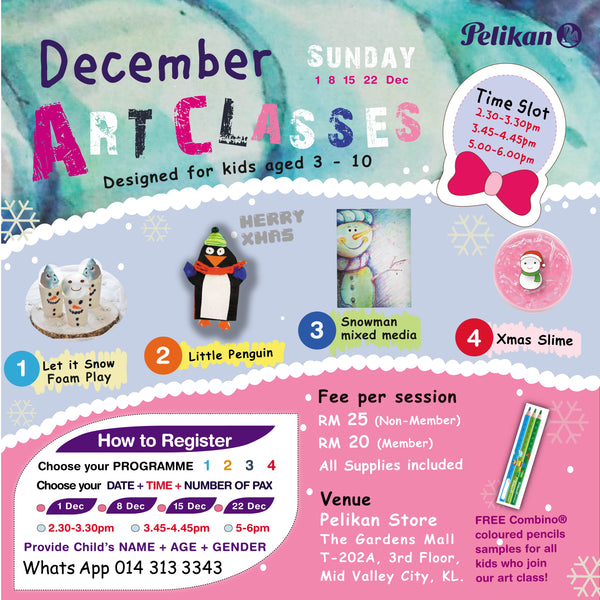 WINTERY DECEMBER ART CLASSES