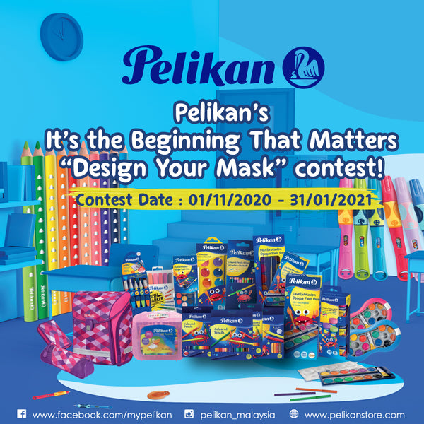 "PELIKAN ""DESIGN YOUR MASK"" CONTEST FOR BACK TO SCHOOL 2020/2021"