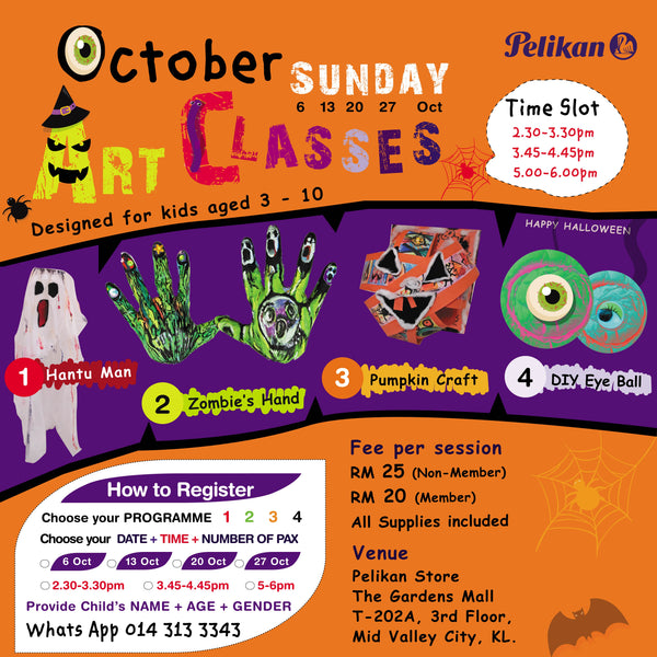 HALLOWEEN OCTOBER ART CLASSES