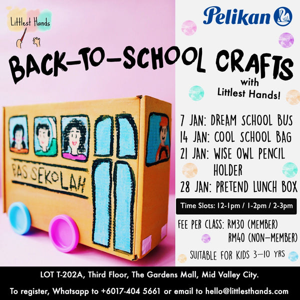 BACK TO SCHOOL CRAFTS JANUARY ART CLASSES