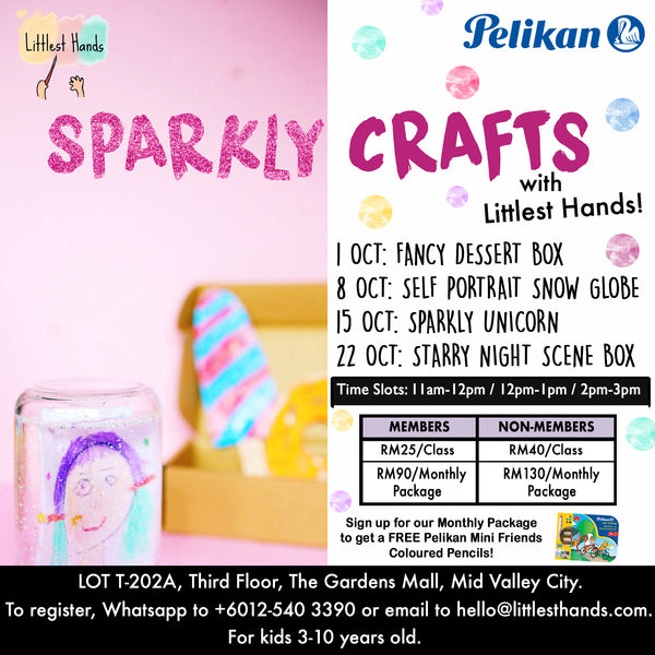 SPARKLY CRAFTS OCTOBER ART CLASSES