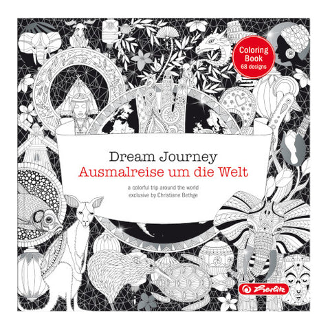 COLOURING BOOK DREAM JOURNEY 23CMX23CM 72 PAGES