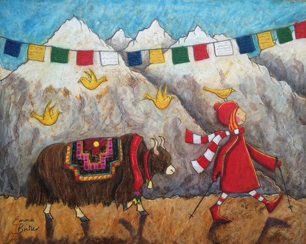 'Ruby and The Yak', mixed media