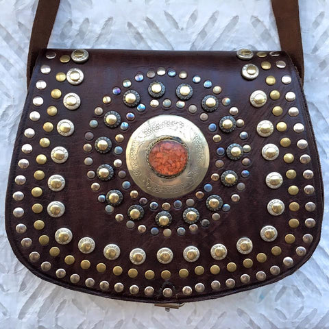 Autumn Stone Moroccan Leather Handbag