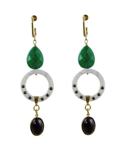 ANTIGONI Earrings Green -maria-moyseos