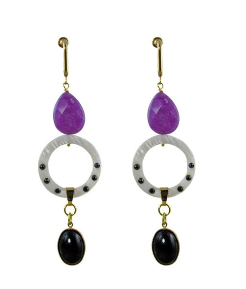 ANTIGONI Earrings Purple -maria-moyseos