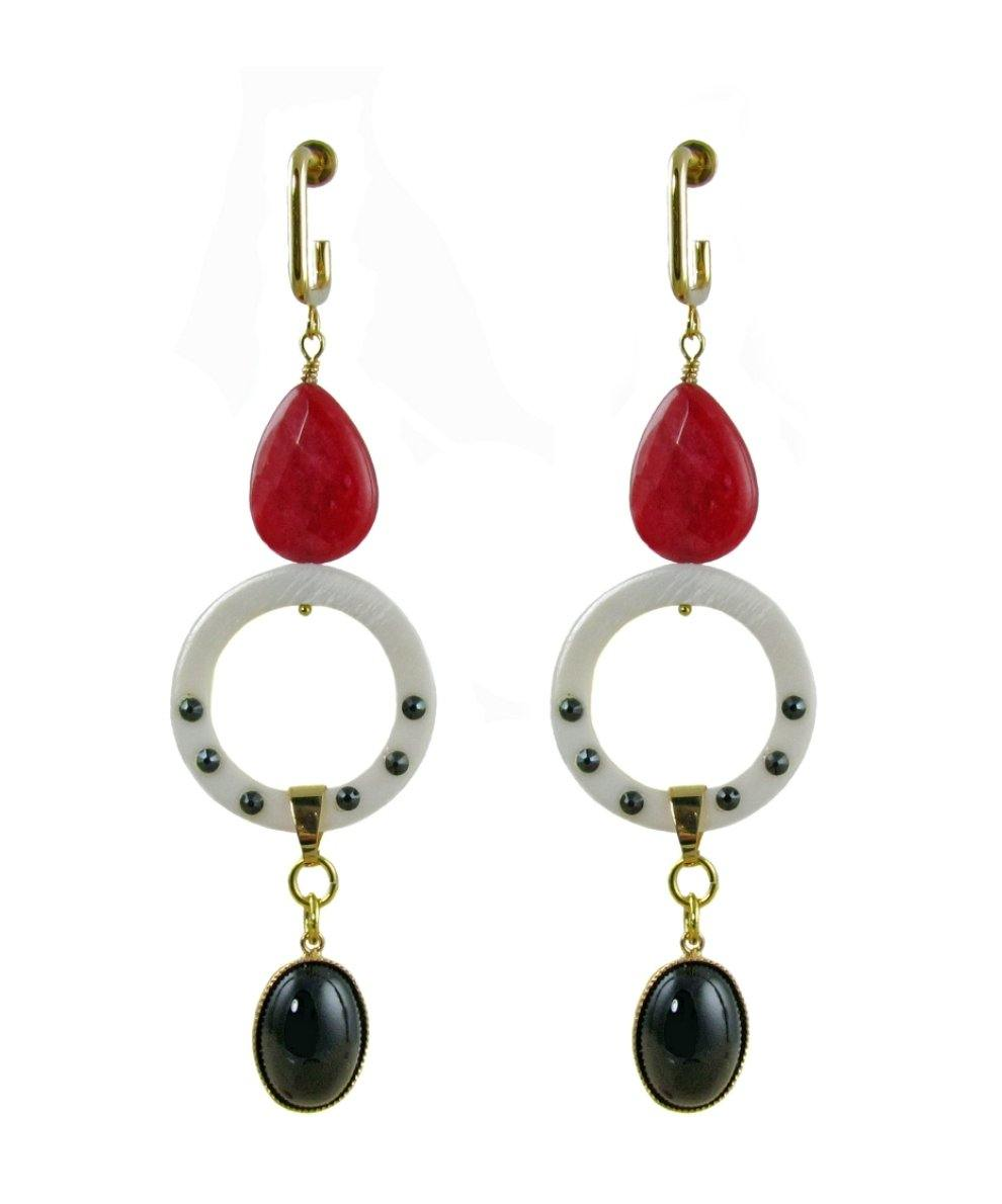 ANTIGONI Earrings Red - MARIA MOSS