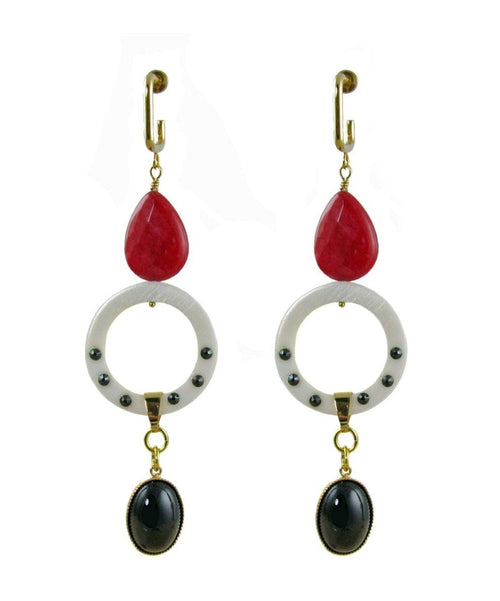 ANTIGONI Earrings Red -maria-moyseos