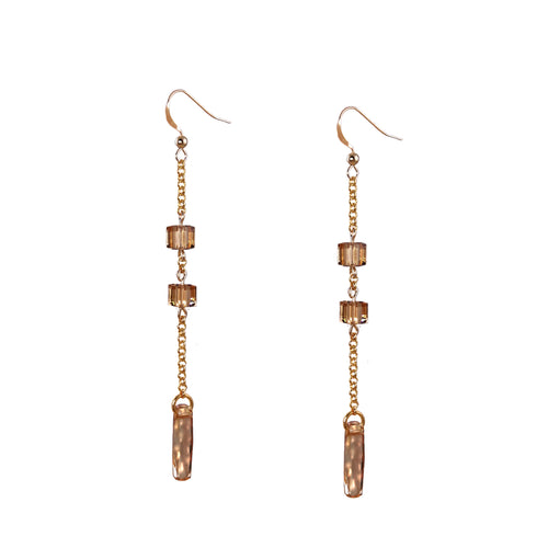 EMILY 14K Gold Filled crystal Earrings -maria-moyseos