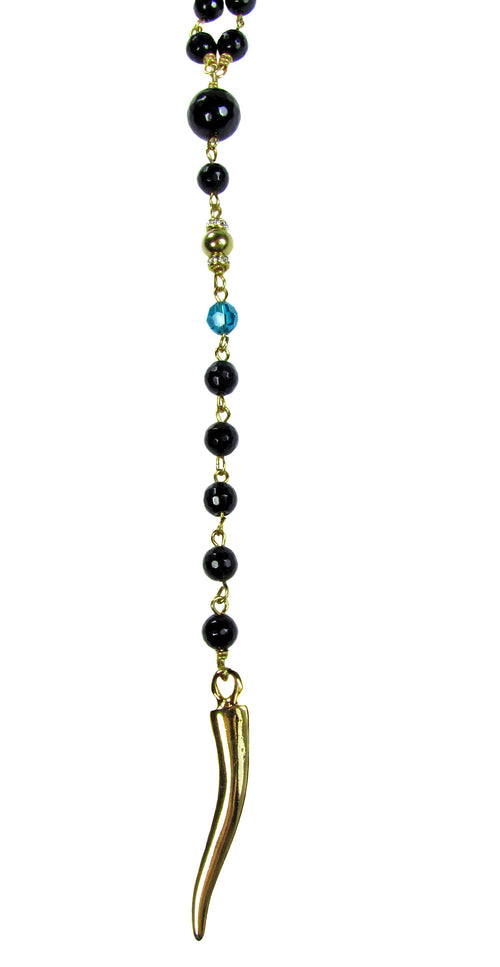 IOANNA- Y Gemstone Necklace -maria-moyseos