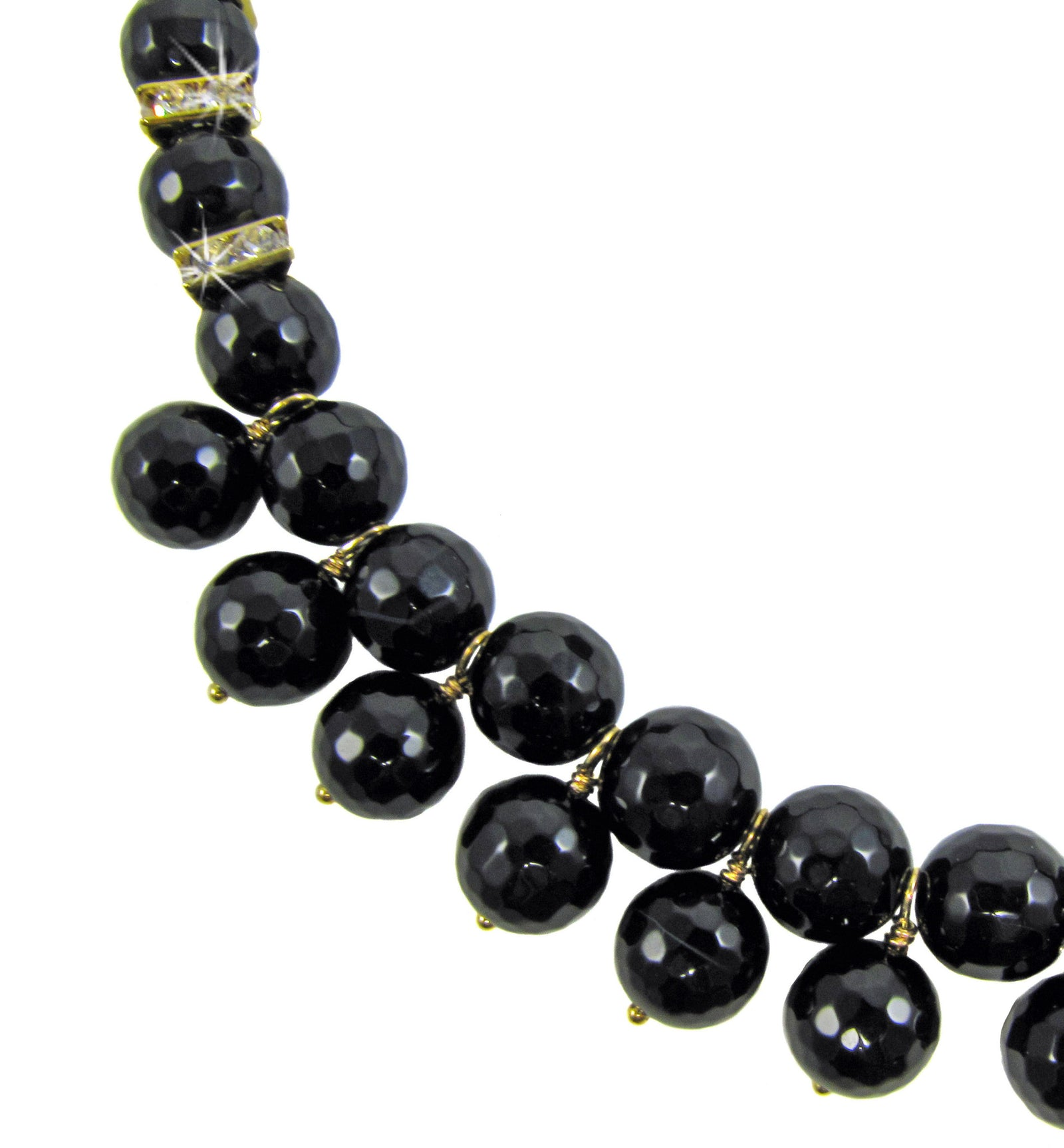 MARIANNA- Black gemstone short Necklace - MARIA MOSS