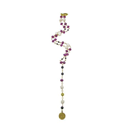 Victoria Gemstone long necklace - MARIA MOSS