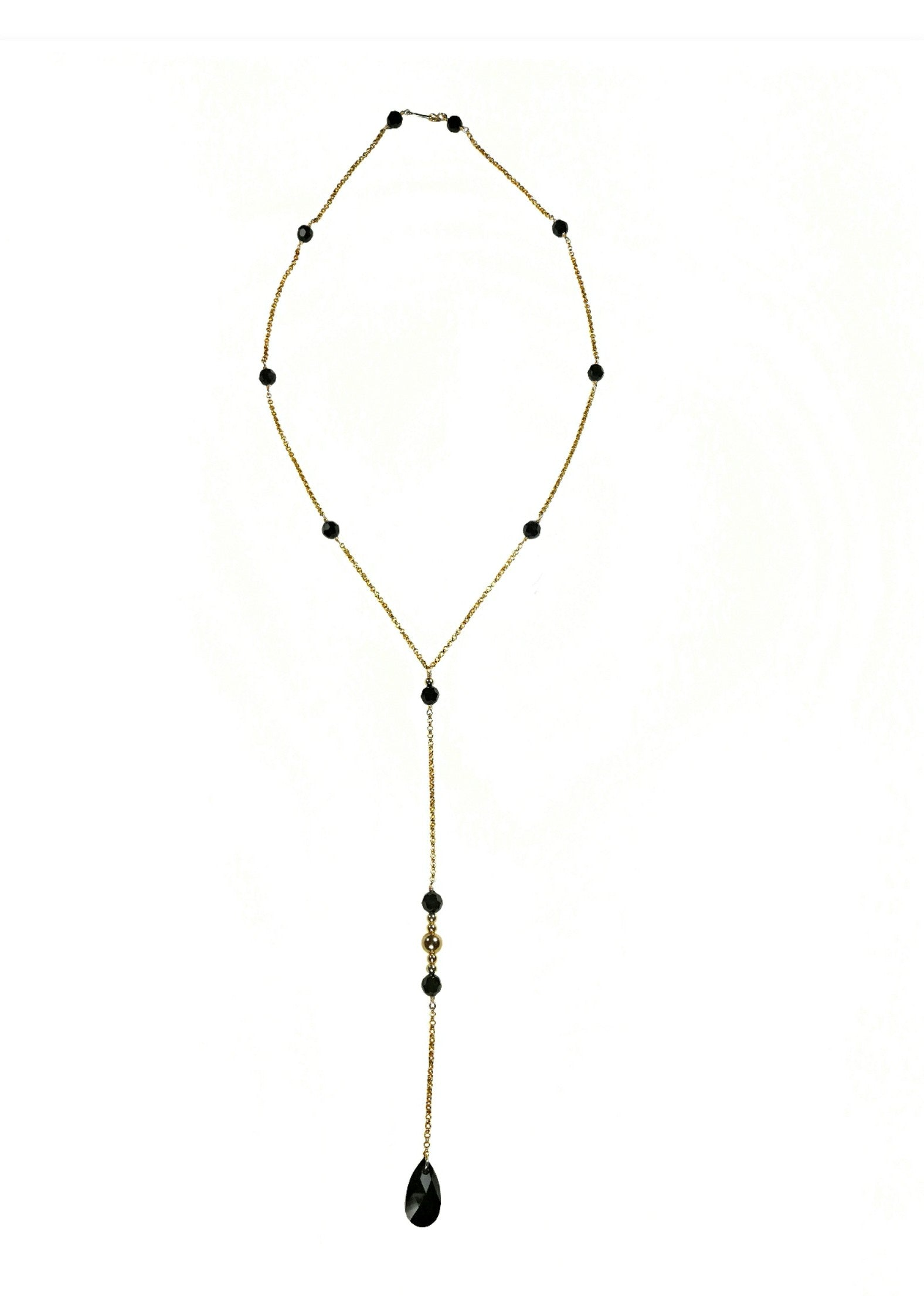 VALENTINA 14K Gold Filled Y long Necklace -maria-moyseos
