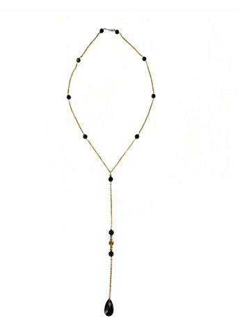 MARKELLA- Mauve long gemstone Necklace