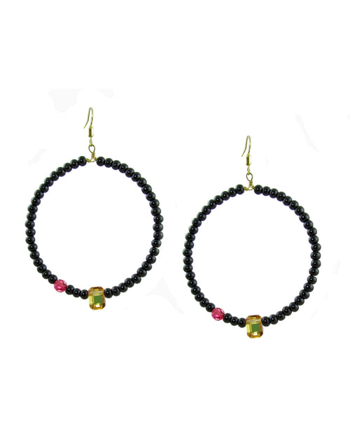 LIANA Hoop Earrings Yellow -maria-moyseos