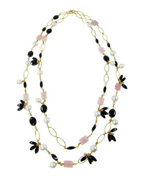 ELIA- Two strand long Necklace - MARIA MOSS